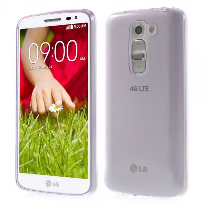 LG G2 Mini Ultradünnes (0.6mm), elastisches Plastik Case - purpur
