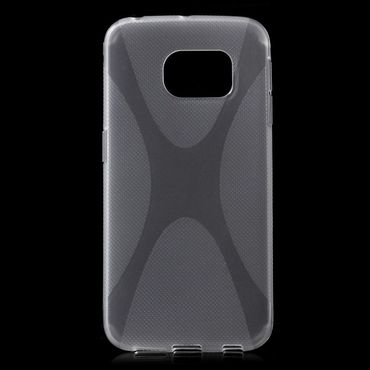 Samsung Galaxy S6 Edge Elastisches Plastik Case X-Shape - transparent