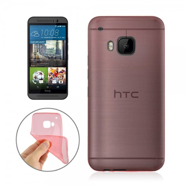 HTC One (M9) Ultradünnes (0.3mm), elastisches Plastik Case - rot