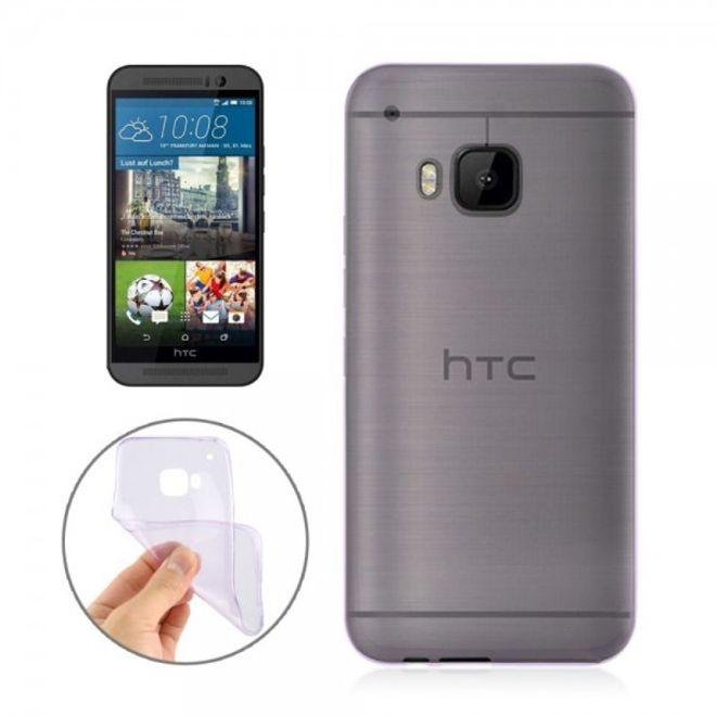 HTC One (M9) Ultradünnes (0.3mm), elastisches Plastik Case - purpur