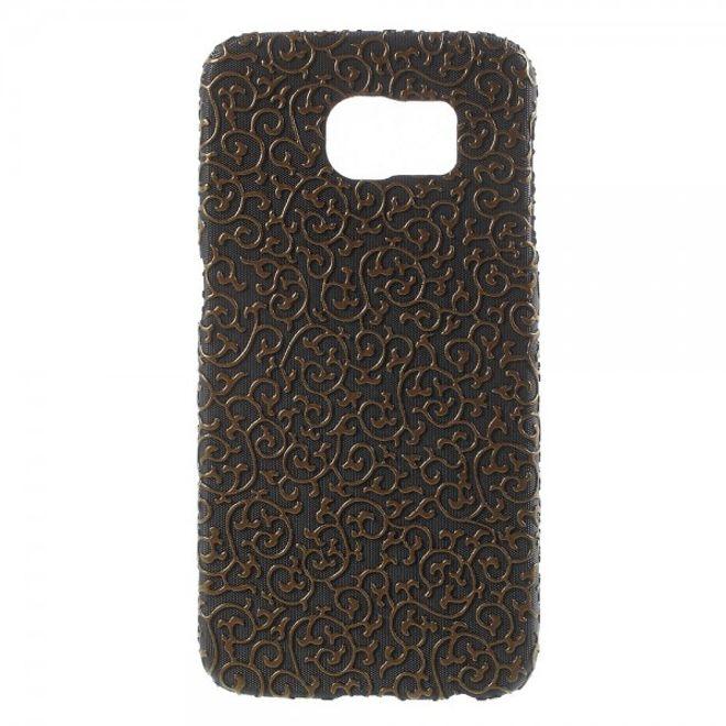 Samsung Galaxy S6 Hart Plastik Case mit markanter Oberfläche - schwarz