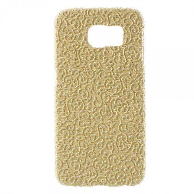 Samsung Galaxy S6 Hart Plastik Case mit markanter Oberfläche - gelb