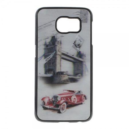 Samsung Galaxy S6 Hart Plastik Case mit 3D Oldtimer und Tower Bridge