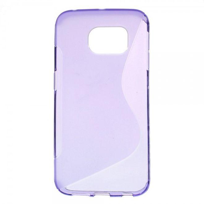 Samsung Galaxy S6 Edge Elastisches Plastik Case S-Curve - purpur