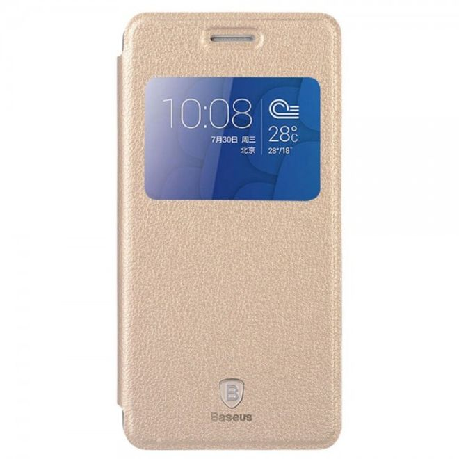 Baseus Huawei Honor 6 Plus Baseus Smart Leder Case mit Standfunktion - champagnerfarben
