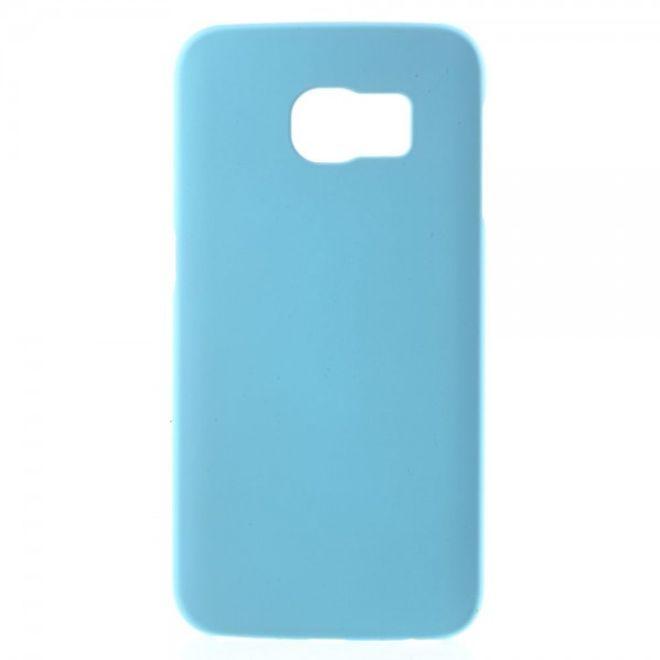 Samsung Galaxy S6 Edge Gummiertes Hart Plastik Case - hellblau