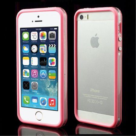 iPhone SE/5S/5 Plastik Bumper - transparent/pink