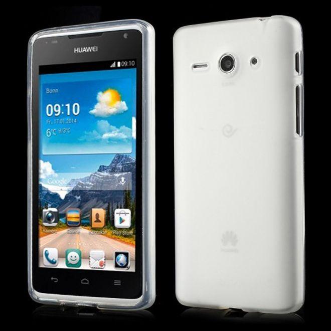 MU Classic Huawei Ascend Y530 Elastisches, mattes Plastik Case - weiss