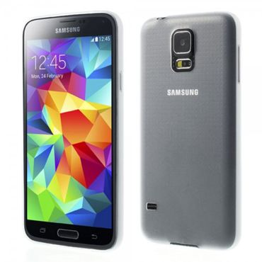 Samsung Galaxy S5 Ultradünnes (0.3mm), mattes Plastik Case - transparent