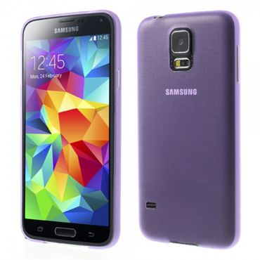 Samsung Galaxy S5 Ultradünnes (0.3mm), mattes Plastik Case - purpur