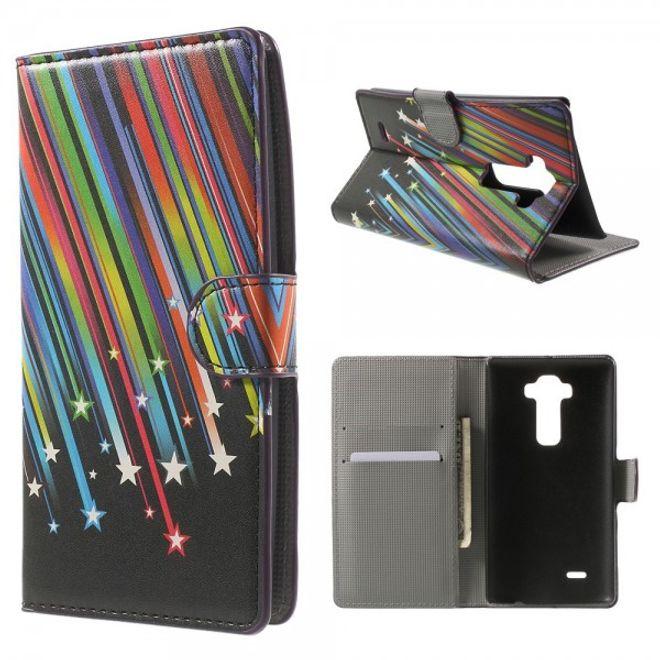 LG G Flex 2 Leder Case mit Meteorschauer