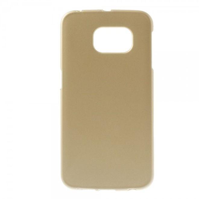 Samsung Galaxy S6 Edge Mattes Hart Plastik Case - gold