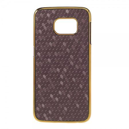 Samsung Galaxy S6 Edge Hart Plastik Case mit Fussballmuster - purpur