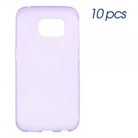 Samsung Galaxy S6 Edge Elastisches Plastik Case X-Shape - purpur