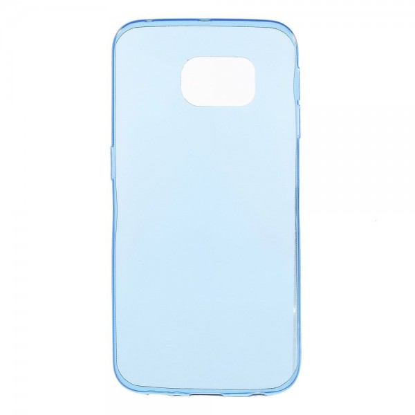 Samsung Galaxy S6 Edge Ultradünnes (0.6mm), elastisches Plastik Case - blau