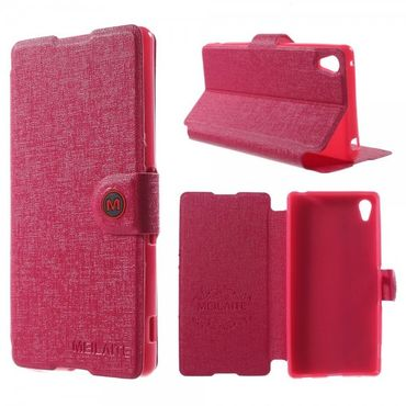 Sony Xperia Z4 Magnetisches Leder Case mit Standfunktion - rosa