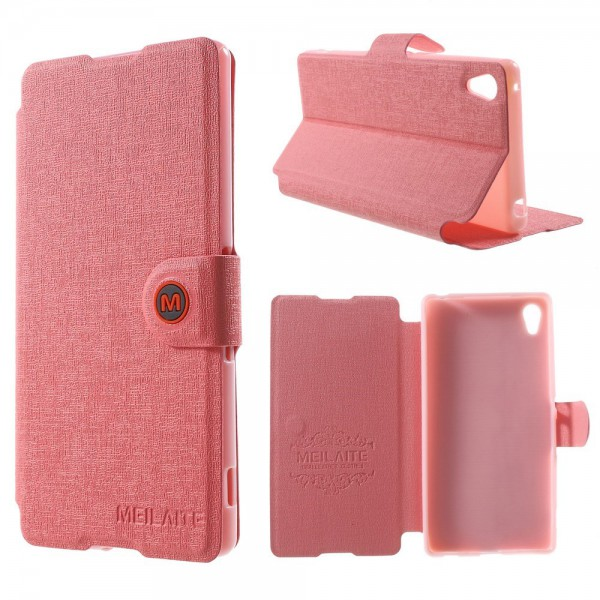 Sony Xperia Z4 Magnetisches Leder Case mit Standfunktion - pink