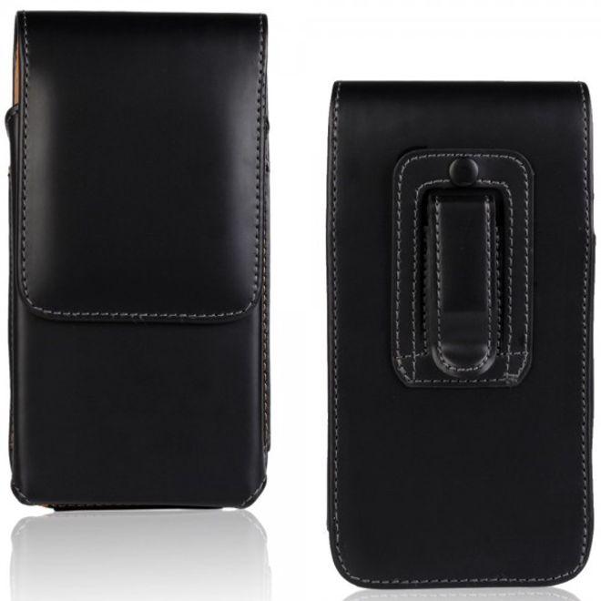Sony Xperia Z4 Leder Beutel mit Gurthalterung und glänzender Oberfläche