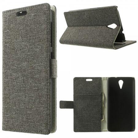 HTC Desire 620/820 Mini Magnetisches Leder Case mit stoffartiger Oberfläche - braun