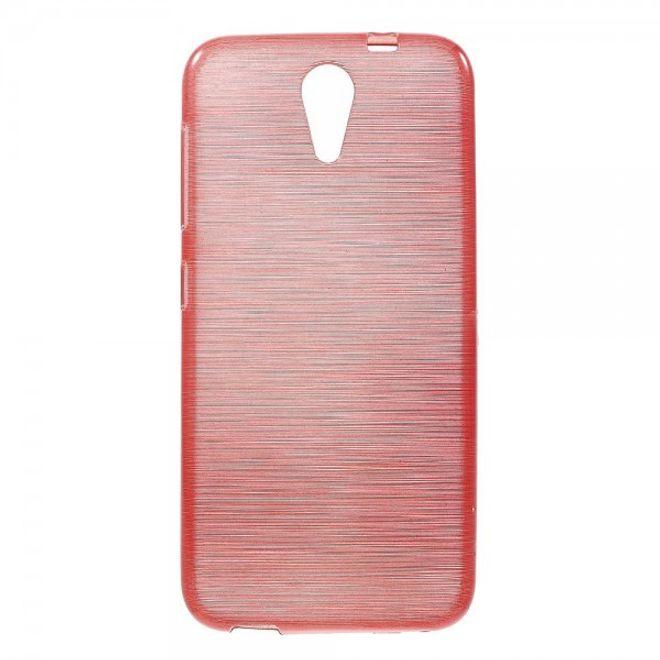 HTC Desire 620/820 Mini Elastisches, gebürstetes Plastik Case - rot