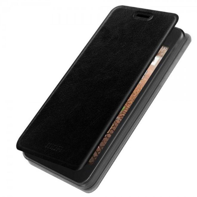 Mofi Huawei Ascend Y635 MOFI Rui Series Crazy Horse Leder Case - schwarz