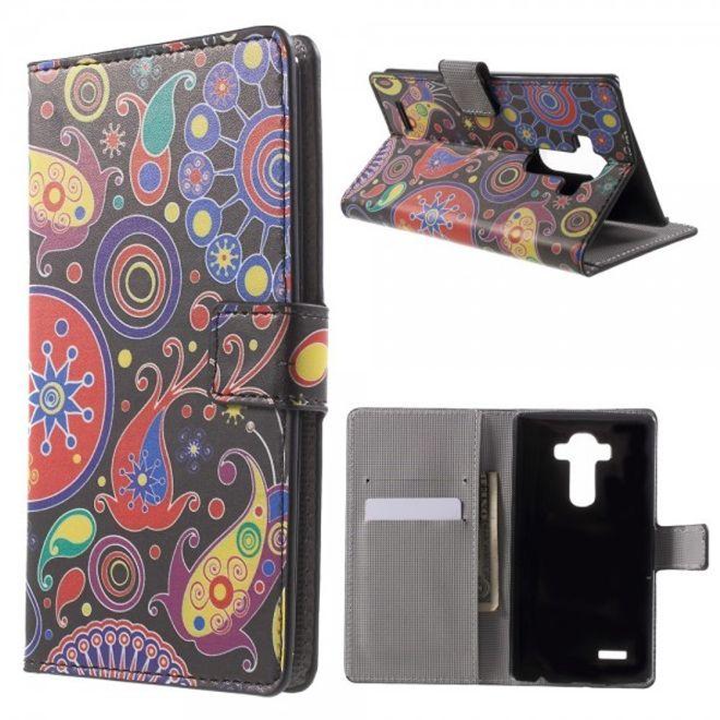 LG G4 Leder Case mit farbigem Muster