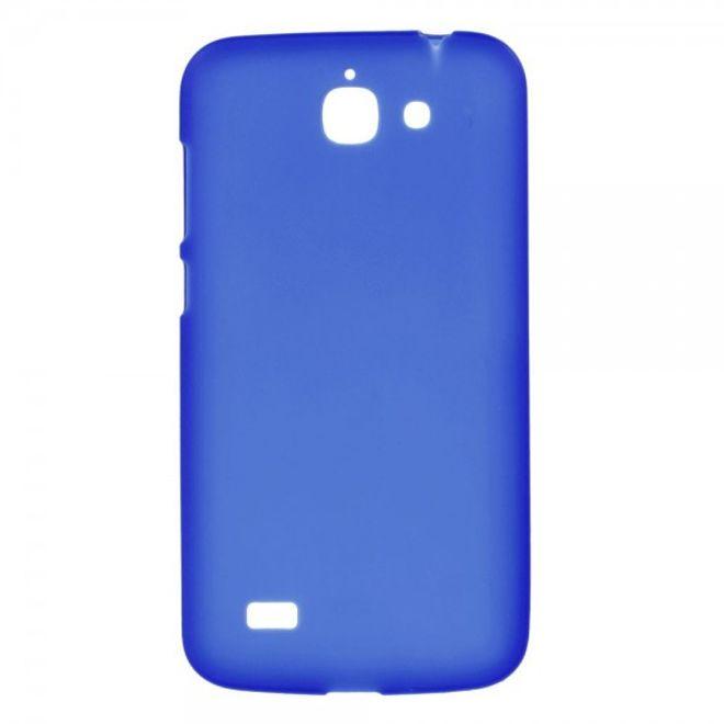 Huawei Ascend G730 Elastisches, mattes Plastik Case - blau