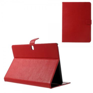 Samsung Galaxy Tab Pro 10.1 (T520/T525) Elegantes Leder Case mit Standfunktion - rot