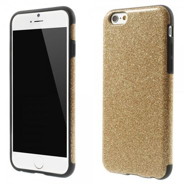 iPhone 6/6S Glitzerndes, elastisches Plastik Case - rosagold
