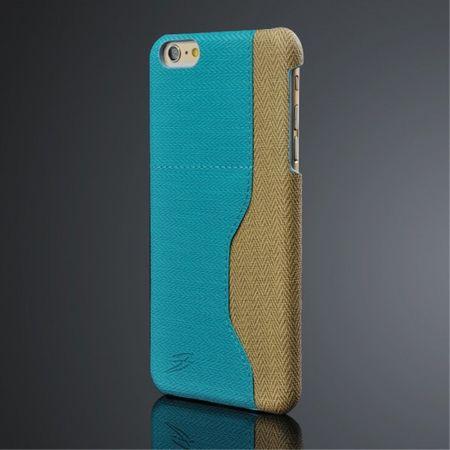 iPhone 6 Plus/6S Plus Kontrastreiches Plastik Case mit Kreditkartenslot - blau