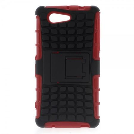 Sony Xperia Z3 Compact Rutschfestes, robustes Plastik Case - rot