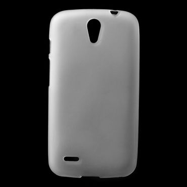 Huawei Ascend G610 Mattes, elastisches Plastik Case - transparent