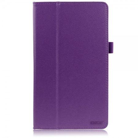 Sony Xperia Z3 Tablet Compact Enkay Leder Case mit Litchitextur und Standfunktion - purpur