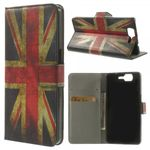 Wiko Highway Magnetisches Leder Case mit UK Flagge retro-style