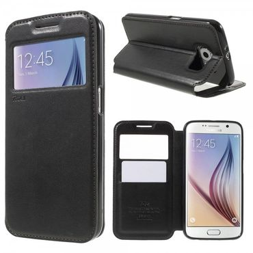 Samsung Galaxy S6 Roar Korea Noble View Leder Case - schwarz