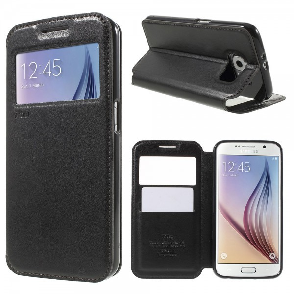 Roar Samsung Galaxy S6 Roar Korea Noble View Leder Case - schwarz