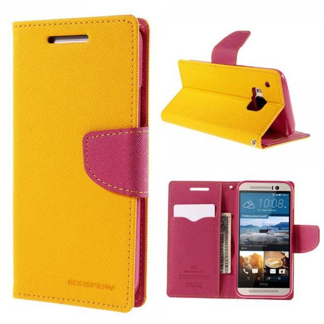 Goospery HTC One (M9) Mercury Goospery Modisches Leder Case - orange