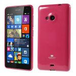 Goospery - Microsoft Lumia 535/535 Dual Handy Hülle - TPU Soft Case - Pearl Jelly Series - pink