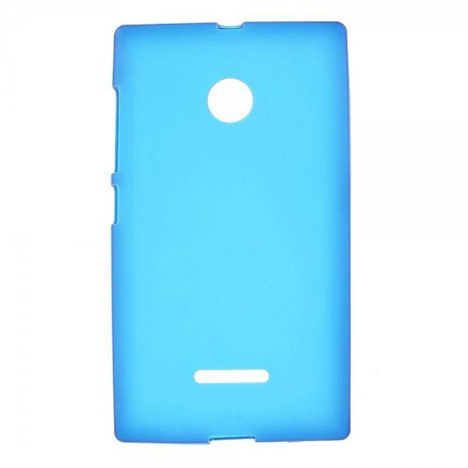 Microsoft Lumia 532/532 Dual Mattes, elastisches Plastik Case - blau