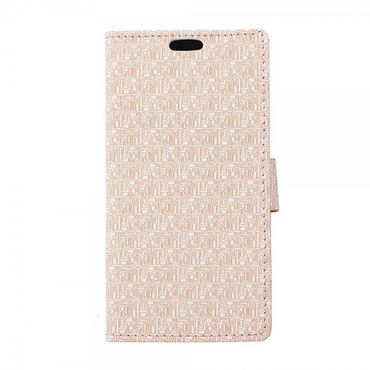 Sony Xperia Z4 Leder Case mit Labyrinth Muster und Standfunktion - beige