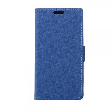 Sony Xperia Z4 Leder Case mit Labyrinth Muster und Standfunktion - hellblau
