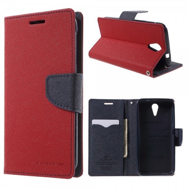 Goospery HTC Desire 620/820 Mini Mercury Goospery Modisches Leder Case - rot