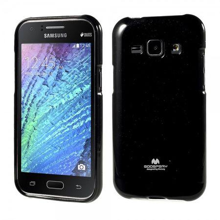 Samsung Galaxy J1 Mercury Goospery Leicht glitzerndes, elastisches Plastik Case - schwarz