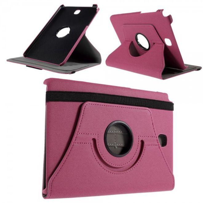 Samsung Galaxy Tab A 8.0 (T350) 360° rotierbares Leder Case mit Twilltextur - rosa