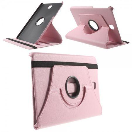 Samsung Galaxy Tab A 8.0 (T350) 360° rotierbares Leder Case mit Litchitextur - pink
