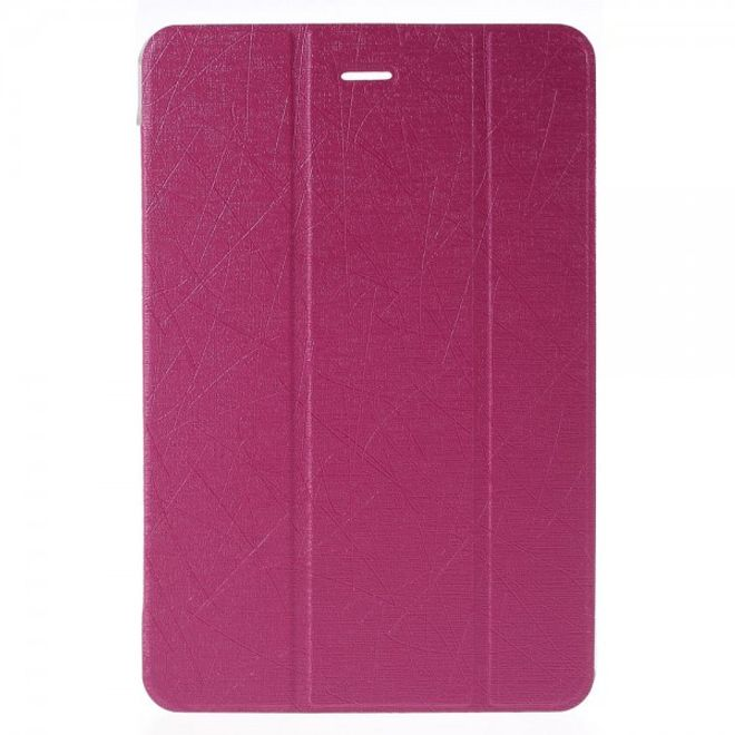 Samsung Galaxy Tab A 8.0 (T350) Leder Case mit seidenartiger Textur und Standfunktion - rosa