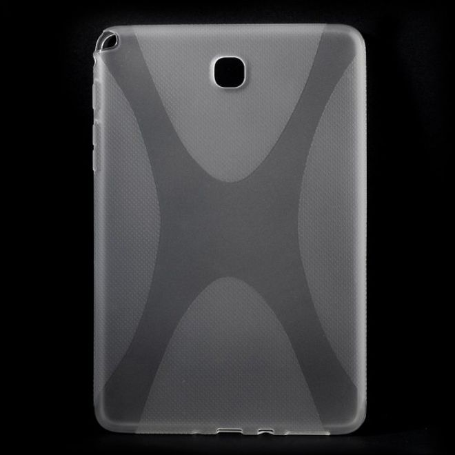 Samsung Galaxy Tab A 8.0 (T350) Elastisches Plastik Case X-Shape - transparent