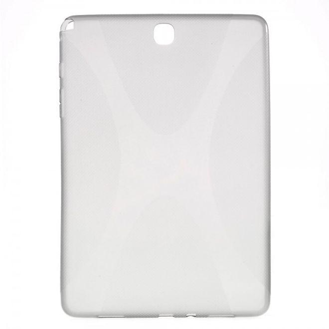 Samsung Galaxy Tab A 9.7 (T550/T555) Elastisches Plastik Case X-Shape - grau