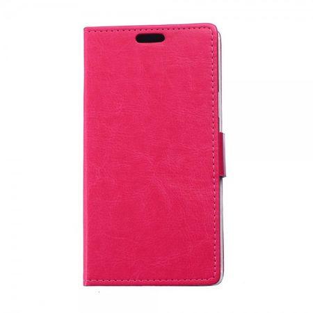 Sony Xperia E4/E4 Dual Klassisches Crazy Horse Flip Case mit Standfunktion - rosa