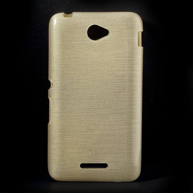 Sony Xperia E4/E4 Dual Glänzendes, leicht gebürstetes und elastisches Plastik Case - champagnerfarben